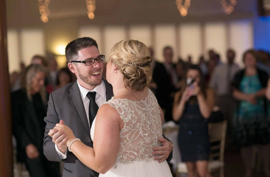 Bride and groom first dance at Hudson Valley Wedding At Hunter Mountain in Hunter New York