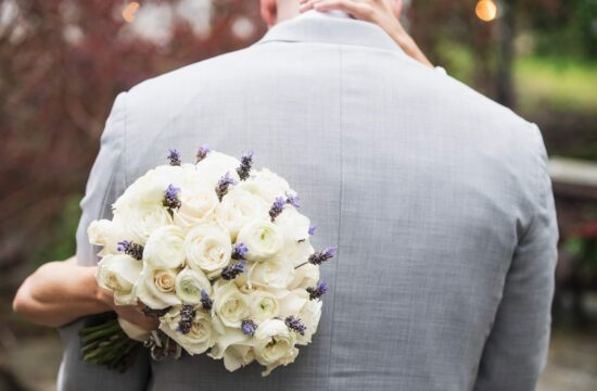 Brides bouquet in garden at a Feast at Round Hill Wedding in the Hudson Valley
