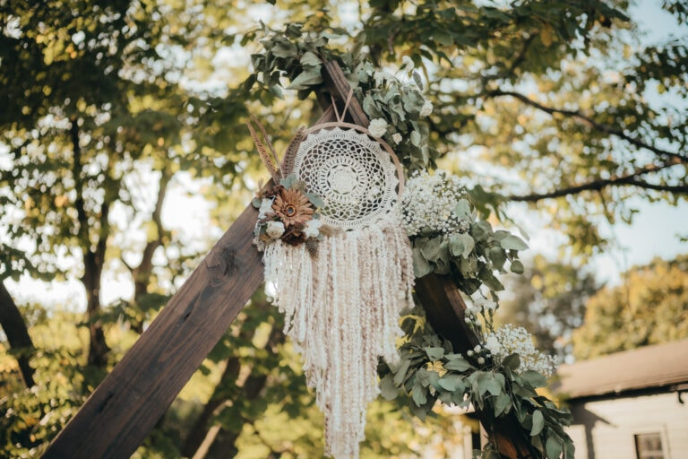 Dream Catcher Ceremony Decoration at a Hudson Valley Wedding for Locust Grove Estate Wedding Photography